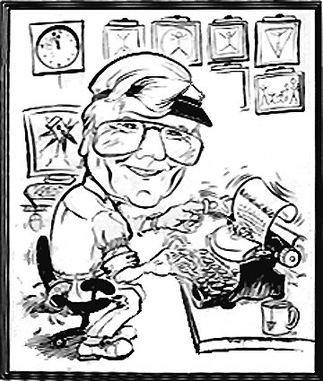 Jim Bard - Former CTV Toronto News Editor - Beautiful caricature illustrations of freelance scientific illustrator and plein-air artist Patrice Stephens-Bourgeault