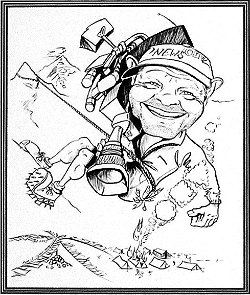 Tom Ruppel - Former CTV Toronto News Cameraman - Beautiful caricature illustrations of freelance scientific illustrator and plein-air artist Patrice Stephens-Bourgeault