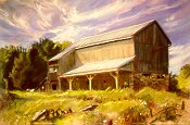 D2MM02: Vaughn Barn - Beautiful city landscape of freelance scientific illustrator and plein-air artist Patrice Stephens-Bourgeault