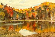 D31001: Fall Reflections - Beautiful Ontario landscape paintings of freelance scientific illustrator and plein-air artist Patrice Stephens-Bourgeault