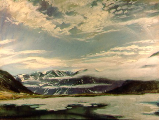 D4070b: Orotundra - Qikiqtarjuaq (formerly called Broughton Island), Nunavut, Canada - Beautiful Arctic landscape paintings of freelance scientific illustrator and plein-air fine arts artist Patrice Stephens-Bourgeault