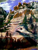E50802: Erasing On the Wall of Time (Sedona, Arizona) Beautiful Arizona landscapes paintings of freelance scientific illustrator and plein-air artist Patrice Stephens-Bourgeault