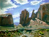 E50805: Arizona Pass - Beautiful Arizona landscapes paintings of freelance scientific illustrator and plein-air artist Patrice Stephens-Bourgeault