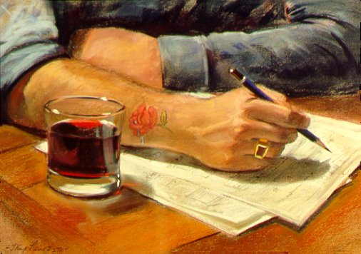 D40227: Wine and Song - Beautiful genre paintings of freelance scientific illustrator and plein-air fine arts artist Patrice Stephens-Bourgeault