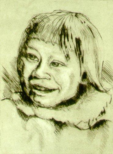 C30503: Miss Newbingnak - Beautiful portrait paintings of freelance scientific illustrator and plein-air fine arts artist Patrice Stephens-Bourgeault
