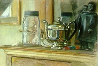 D20101: Glass, Silver, Stone & Wood - Beautiful still life paintings of freelance scientific illustrator and plein-air artist Patrice Stephens-Bourgeault