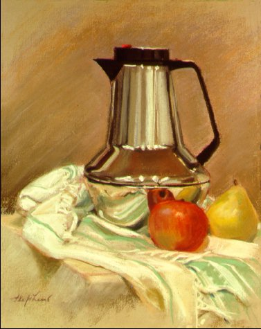 D2MM03: Thermos and Fruit - Beautiful still life paintings of freelance scientific illustrator and plein-air fine arts artist Patrice Stephens-Bourgeault