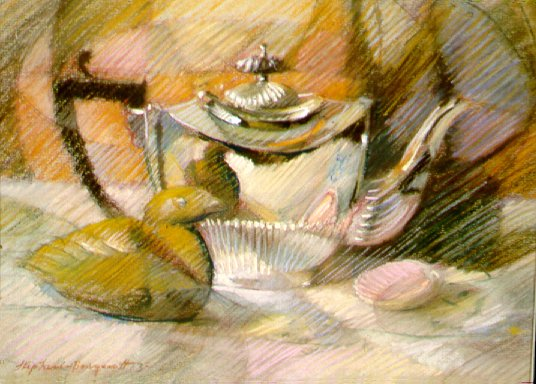 D30202: Tea On the Seashore - Beautiful still life paintings of freelance scientific illustrator and plein-air artist Patrice Stephens-Bourgeault