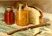 D31202: Bread and Preserves - Beautiful still life paintings of freelance scientific illustrator and plein-air artist Patrice Stephens-Bourgeault