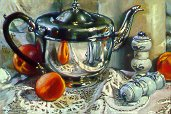 D90501: Grandma's Shakers - Beautiful still life paintings of freelance scientific illustrator and plein-air artist Patrice Stephens-Bourgeault