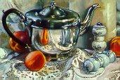 D90501: Grandma's Shakers - Beautiful still life paintings of freelance scientific illustrator and plein-air artist Patrice Stephens-Bourgeault