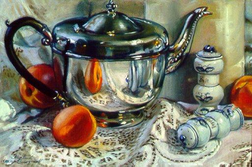 90501: Grandma's Shakers - Beautiful still life paintings of freelance scientific illustrator and plein-air fine arts artist Patrice Stephens-Bourgeault